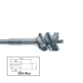 Burghiu strapungere SDS-Max, 65x550mm