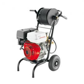 Dipozitiv pentru spalare cu presiune desfundat canalizari, cu motor Honda